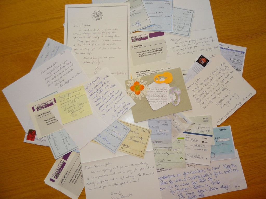 Samaritan sharing cards and letters