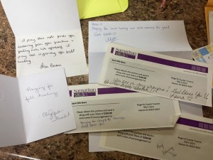 More handwritten notes and cards from Samaritan members